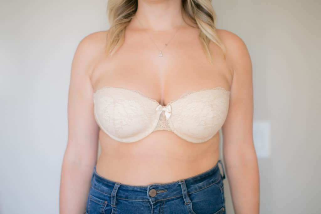 unpadded lace bra without straps