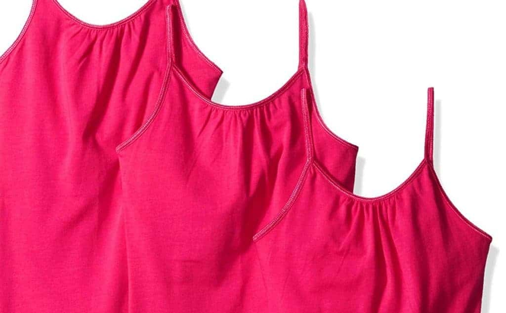 6e41c22ee483a pink camisoles different sizes all with shelf bra