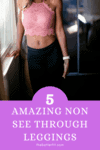 Cover image for 5 amazing non see through leggings