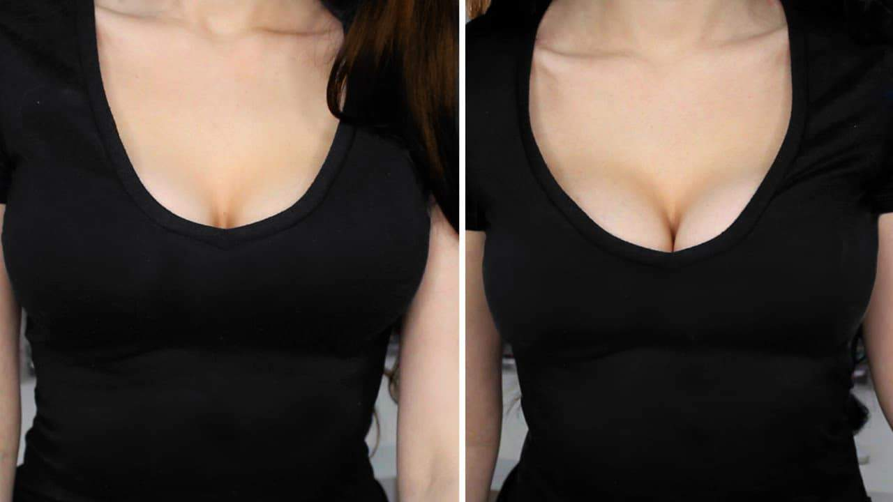 Victoria Secret Bombshell Bra before and after photos