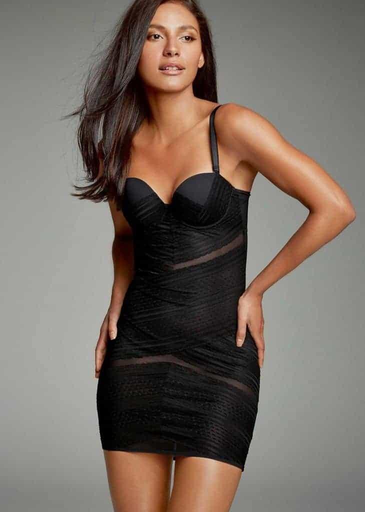 Black dress for shapewear