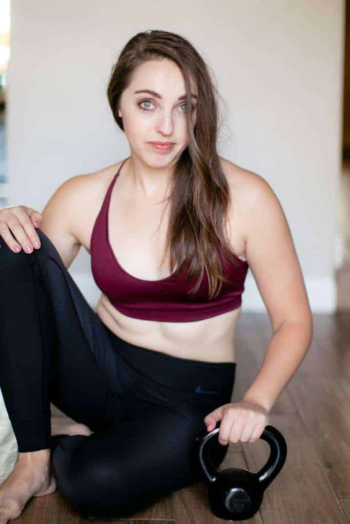 Maroon bralette with athleisure pants