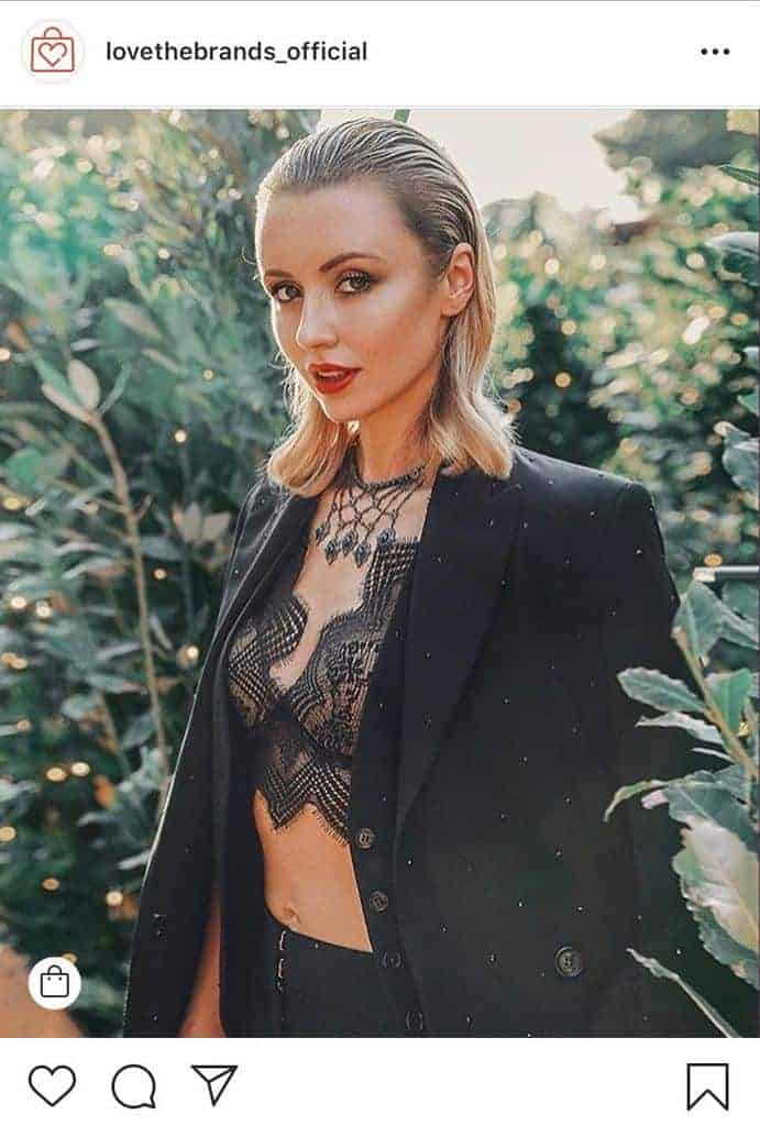 Dark longline bralette with blazer