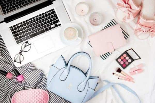 Fashion blogger essentials flat lay