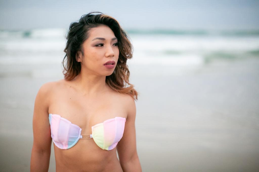 Padded underwire bikini top