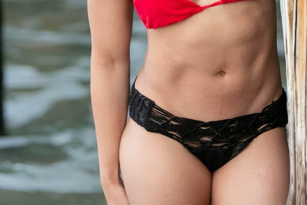 Black strappy bikini bottoms