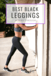 Cover image for the best black leggings non see through