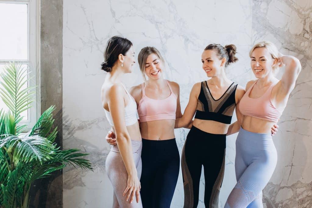 Girls in their athletic wear and leggings