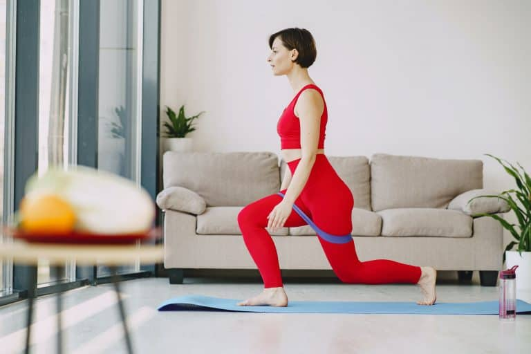 Woman wearing her best squat proof leggings
